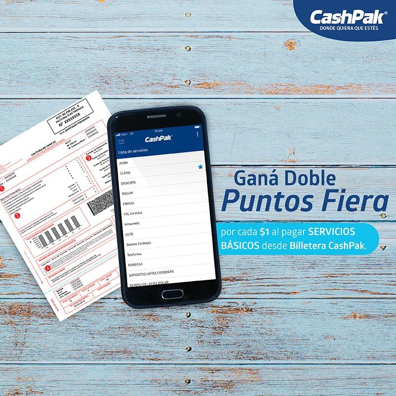 """Promoción: """"Paga servicios con CashPak"""""""