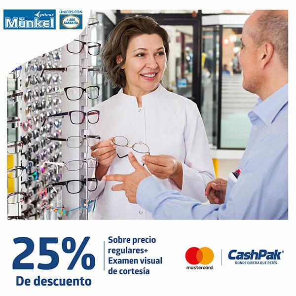 25% de descuento en Opticas Münkel
